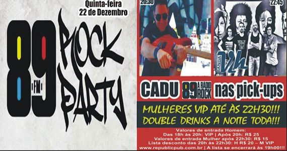 Banda Vih e Dj Cadu agitam a noite do 89 Rock Party no Republic Pub Eventos BaresSP 570x300 imagem