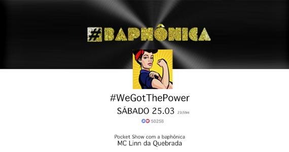 Sábado tem #Baphônica com a Dj convidada Ledah Briacho na Bubu Lounge BaresSP