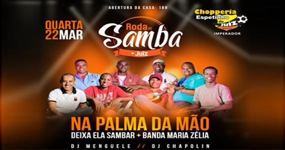 Quarta-feira tem Roda de Samba com Deixa Ela Sambar e banda Maria Zélia no Bar Espetinho do Juiz  Eventos BaresSP 570x300 imagem