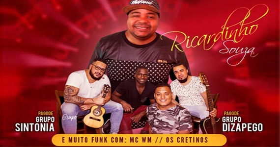 Funk com Mc MW e Os Cretinos no Bar Espetinho do Juiz e pagode com Ricardinho Souza, Grupo Sintonia e Dizapego Eventos BaresSP 570x300 imagem