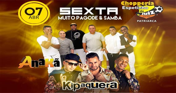 Sexta-feira têm show do Anakã e Kipaquera no Bar Espetinho do Juiz Patriarca Eventos BaresSP 570x300 imagem