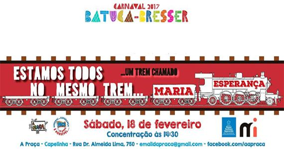 Tarde de sábado acontece a folia do Bloco Batuca-Bresser no bairro da Mooca Eventos BaresSP 570x300 imagem