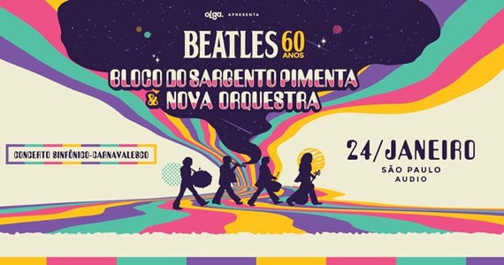Nova Orquestra e Bloco do Sargento Pimenta homenageiam os Beatles