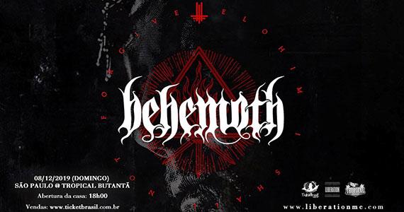 Behemoth retorna ao Tropical Butantã com show único Eventos BaresSP 570x300 imagem
