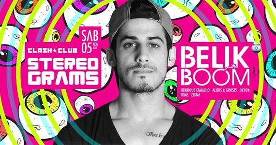 Stereograms apresenta o line up do Dj Belik Boom (Israel) agitando a pista da Clash Club  Eventos BaresSP 570x300 imagem