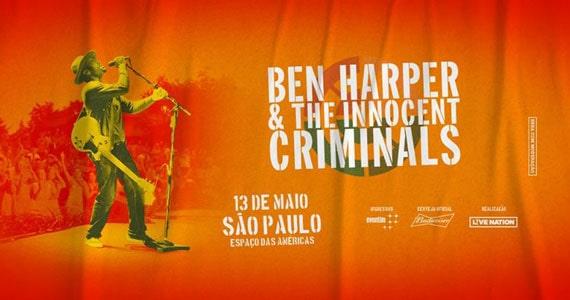 Ben Harper & The Innocent Criminals se apresentam no Espaço das Américas Eventos BaresSP 570x300 imagem