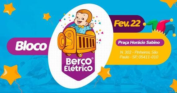 Bloco Berço Elétrico reúne toda a família no Carnaval de rua em São Paulo Eventos BaresSP 570x300 imagem