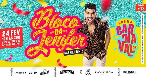 Carnaval de rua SP tem folia com o Bloco da Jenifer com Gabriel Diniz Eventos BaresSP 570x300 imagem