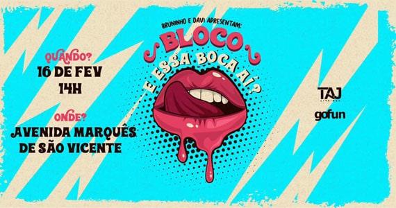 Bruninho e Davi desfilam o Bloco E essa Boca ai no Carnaval de SP Eventos BaresSP 570x300 imagem