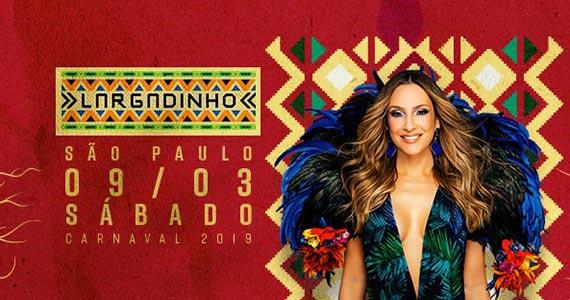Bloco Largadinho com Claudia Leitte pela segunda vez no Carnaval de SP Eventos BaresSP 570x300 imagem