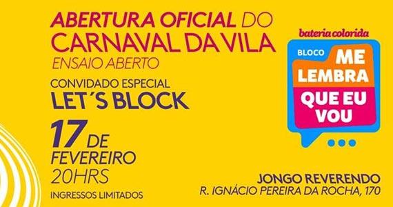 Bloco Me Lembra Que Eu Vou e Let's Block agitam o carnaval no Jongo Reverendo Eventos BaresSP 570x300 imagem