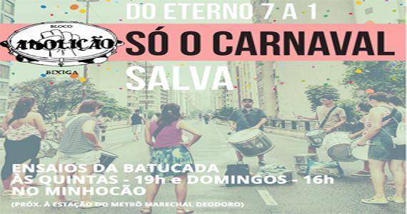 Ensaio do batuca para o carnaval 2017 do Bloco Abolição na Praça General Craveiro Lopes Eventos BaresSP 570x300 imagem