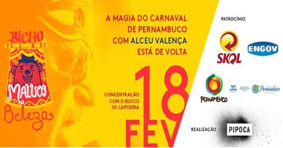 Bloco Bicho Maluco Beleza traz a magia do carnaval de Pernambuco Alceu Valença no Monumento às Bandeiras Eventos BaresSP 570x300 imagem
