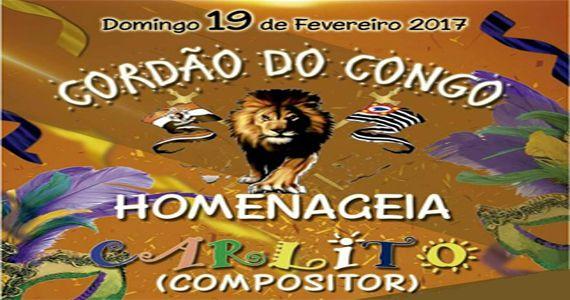 Bloco Cordão do Congo traz a raiz do samba paulista e a cultura afro-brasileira para o carnaval da zona norte Eventos BaresSP 570x300 imagem