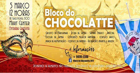 Bloco do Chocolatte espalhando a alegria do carnaval pelas ruas da zona norte  Eventos BaresSP 570x300 imagem