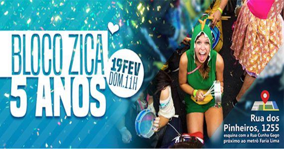 Domingo o Bloco Zica traz o desfile Uma Viagem aos 5 Melhores Carnavais do Brasil! para a Vila Madalena Eventos BaresSP 570x300 imagem