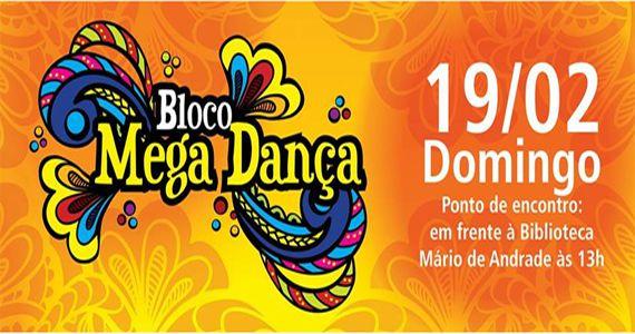 Bloco Mega Dança realiza o seu cortejo no carnaval de rua 2017 na Rua da Consolaçao Eventos BaresSP 570x300 imagem