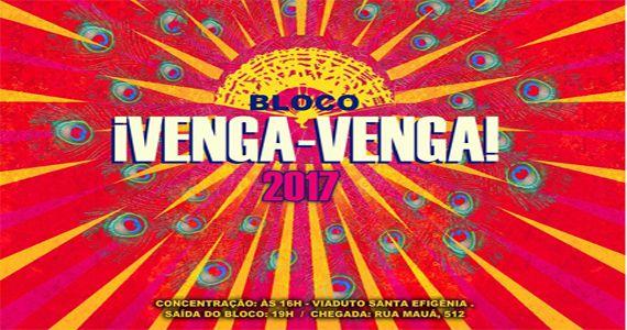 Carnaval de rua 2017 com o bloco ¡VENGA-VENGA! desfilando no centro de São Paulo Eventos BaresSP 570x300 imagem