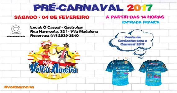 Bloco Volta Amélia desfila pelas ruas da Vila Madalena animando o pré carnaval 2017 Eventos BaresSP 570x300 imagem