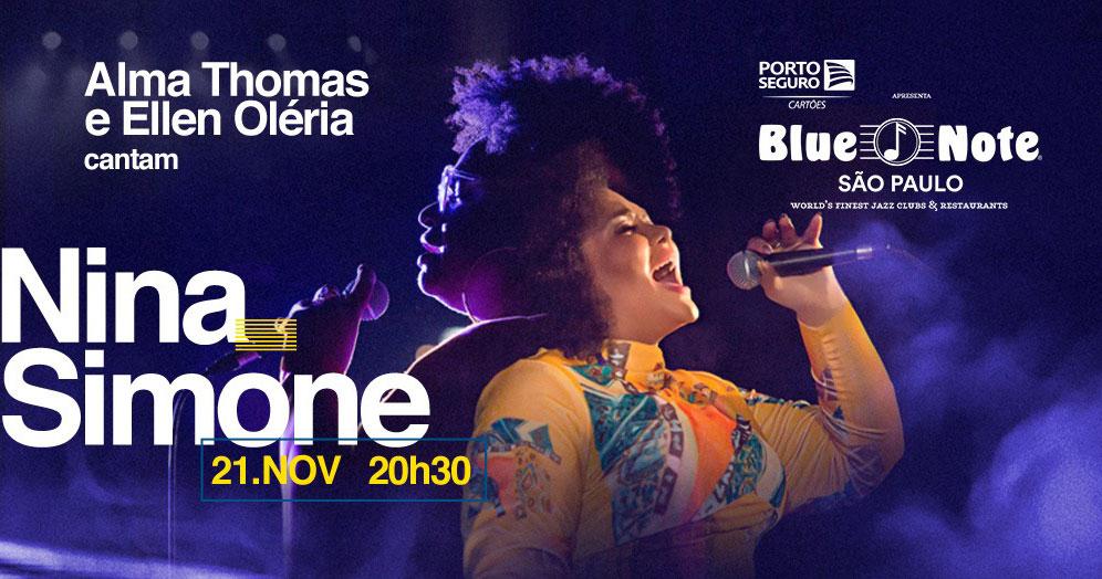 Alma Thomas convida Ellen Oléria em tributo a Nina Simone no Blue Note São Paulo Eventos BaresSP 570x300 imagem