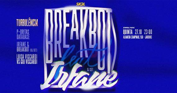 PanAm Club recebe a 9º Edição da Turbulência com Breakbot e Irfane Eventos BaresSP 570x300 imagem