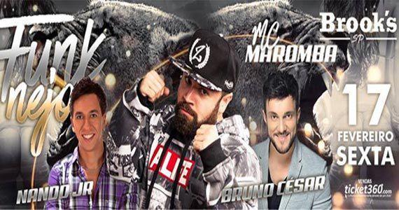 Bruno César, Nando Jr e Mc Maromba agitam o Funknejo no palco da Brooks Eventos BaresSP 570x300 imagem