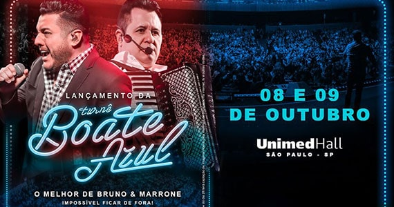 Bruno & Marrone apresentam novo trabalho em show na Unimed Hall Eventos BaresSP 570x300 imagem