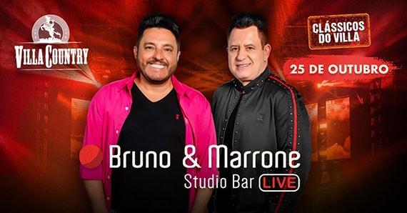 Bruno e Marrone apresentam Studio Bar Live no Villa Country Eventos BaresSP 570x300 imagem