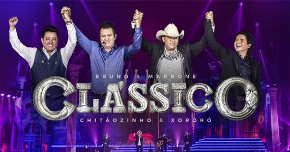 Bruno & Marrone e Chitãozinho & Xororó apresentam o Projeto Clássico no palco do Espaço das Américas Eventos BaresSP 570x300 imagem