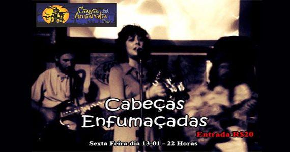 O melhor do pop rock com a banda Cabeças Enfumaçadas na Casa Amarela Pub Eventos BaresSP 570x300 imagem