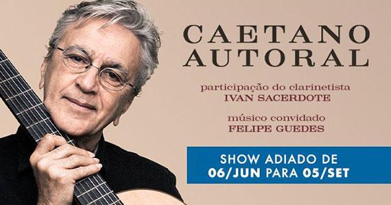 Caetano Veloso realiza show intimista no Espaço das Américas Eventos BaresSP 570x300 imagem