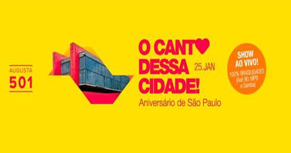 Aniversário de SP recebe O Canto Dessa Cidade com show do Quarteto São Jorge na Augusta 501 Eventos BaresSP 570x300 imagem
