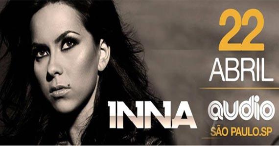 Dona do sucesso Hot a cantora Inna desembarca pela primeira vez no Brasil e se apresenta na Audio Eventos BaresSP 570x300 imagem