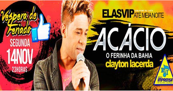 O cantor Acácio O ferinha da Bahia e Clayton Lacerda sobem no palco do Carioca Club Eventos BaresSP 570x300 imagem