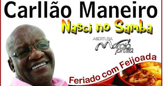 Feijoada com o samba de Carllão Maneiro lançando o CD no palco do Traço de União Eventos BaresSP 570x300 imagem