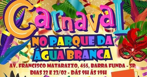 Parque da Água Branca promove Carnaval com bloquinhos Eventos BaresSP 570x300 imagem