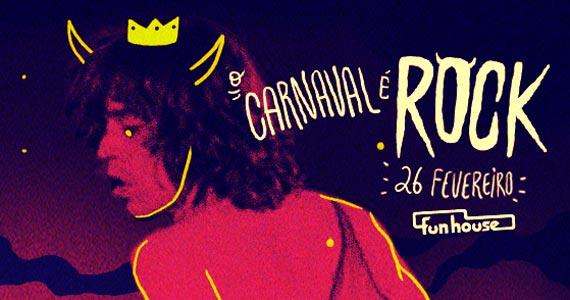 Domingo de carnaval vai ser do rock 'n' roll na Funhouse com clássicos e atualidades Eventos BaresSP 570x300 imagem