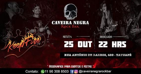 Caveira Negra recebe Keep Fire com show de rock Eventos BaresSP 570x300 imagem