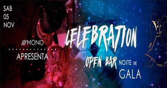 Sábado com o melhor da música eletrônica no Celebration Open Bar - Noite de gala no Mono Club Eventos BaresSP 570x300 imagem