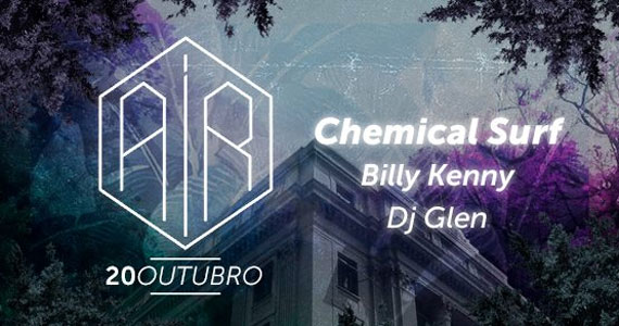 Chemical Surf, Billy Kenny e Dj Glen no Terraço do Air Rooftop, Shopping Center Light Eventos BaresSP 570x300 imagem