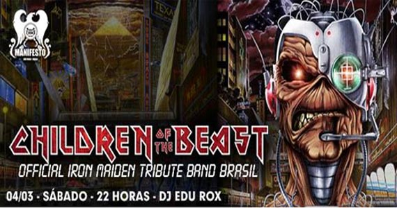 Tributo a Iron Maiden no Manifesto Rock Bar com a banda Children of The Beast Eventos BaresSP 570x300 imagem