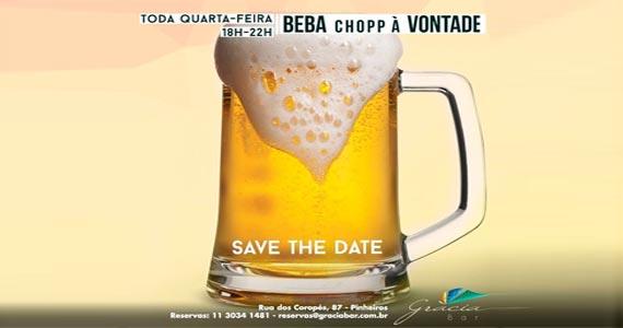 Happy Hour de quarta-feira do Grácia Bar com chopp à vontade  Eventos BaresSP 570x300 imagem