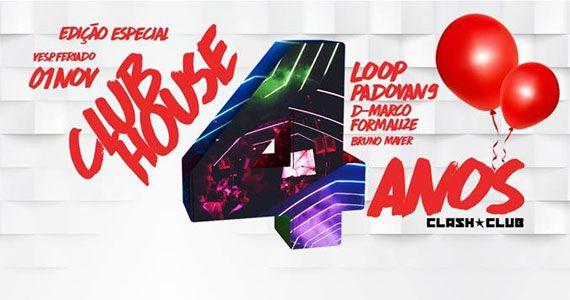 Os Djs L.O.O.P, Formalize, Padovan9, D.Marco e Bruno Mayer no comando da Festa Club House na Clash Club Eventos BaresSP 570x300 imagem