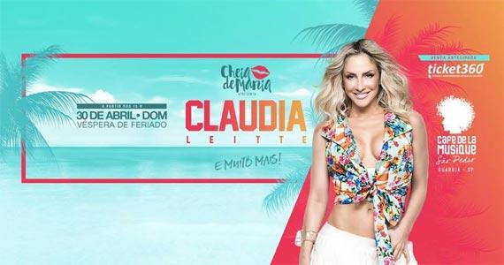 A cantora Claudia Leitte traz todo o axé da Bahia para o Café de La Musique Eventos BaresSP 570x300 imagem