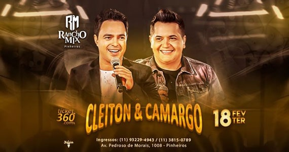Cleiton & Camargo sobem ao palco do Rancho Mix