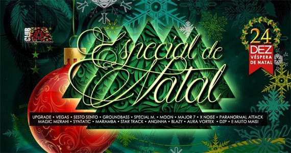 Festa Especial de Natal no Club A com quatro palcos simultâneos Eventos BaresSP 570x300 imagem