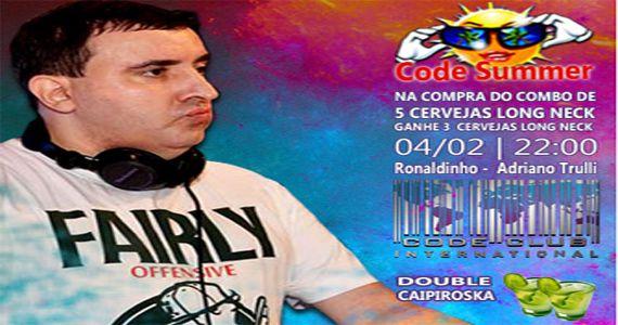 Festa Code Summer com os agitos dos Djs Adriano Trulli e Ronaldinho no Code Club Eventos BaresSP 570x300 imagem