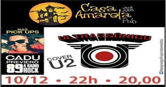 Sábado é dia de curtir à noite com a banda U2 Cover São Paulo, banda Ultrassônica e Dj Cadu Previero na Casa Amarela Pub Eventos BaresSP 570x300 imagem