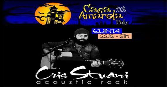 Quinta-feira vai rolar o som de Cris Stuani acoustic rock na Casa Amarela Pub Eventos BaresSP 570x300 imagem