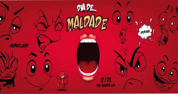Djs Rafael Bennett, Marcelo Noya II e Pikolsdj animam o Dia de Maldade com Open Bar no Mono Club Eventos BaresSP 570x300 imagem
